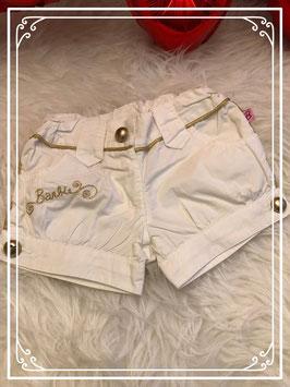Wit kort broekje van Barbie - Maat 92