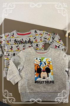 We love Mickey mouse 2 truitjes van Disney Maat 74