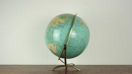 mid century Globus mit Tripod-Messinggestell
