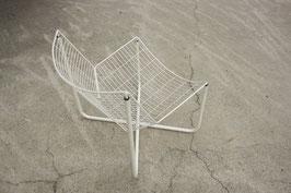 weißer Sessel JÄRPEN aus Drahtgitter, Niels Gammelgaard für IKEA