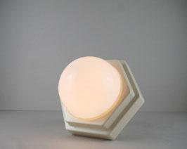 Hexagon Leuchte mit Opalglas, weiß