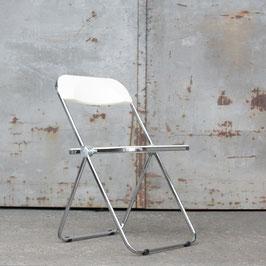 Stuhl Plia weiß Chrom
