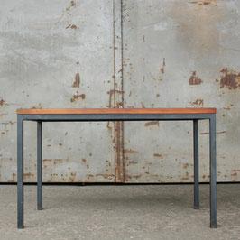 vintage Sitzbank Holz und Stahlrohr