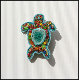Broche Tortue multicolore