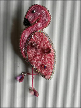 Broche Flamand Rose