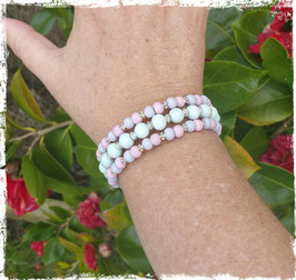 Bracelet bois MW rose