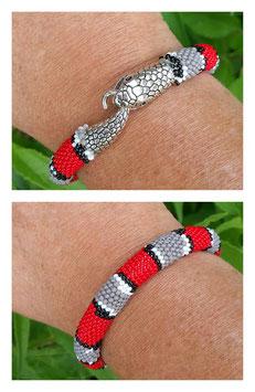 Bracelet Crocheté Snake Rouge