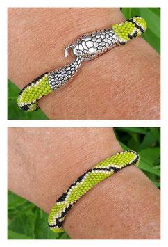 Bracelet Crocheté Snake Vert