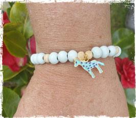 Bracelet bois et Girafe