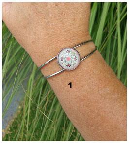 Bracelet Demi-jonc Cabochon