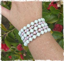 Bracelet bois MW bleu