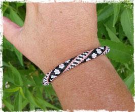 Bracelet Crocheté Fleurs and Graph'