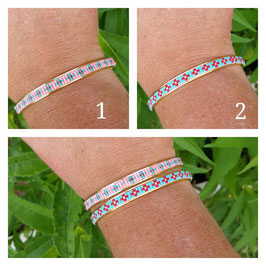 Bracelet Jonc Fleurettes