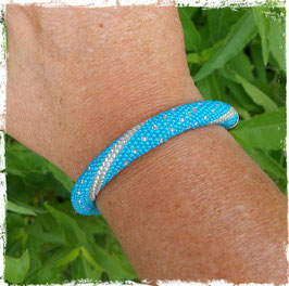 Bracelet Crocheté Bleu