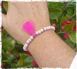 Bracelet bois Pompon