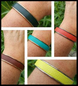 Bracelet Cuir Texturé