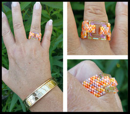 Bague Cosmic Square Mix Orange