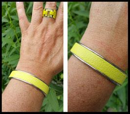 Bracelet Cuir Safran