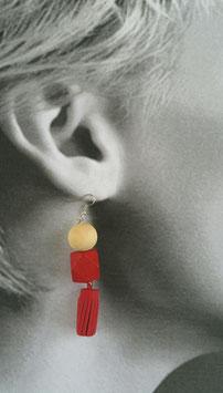 Boucles d'oreilles Carmin