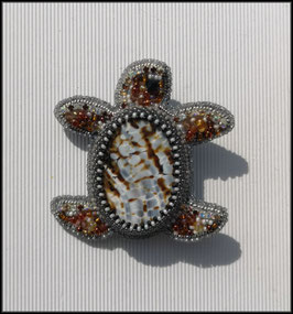 Broche Tortue pierre
