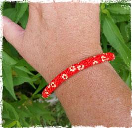Bracelet Crocheté Fleurettes