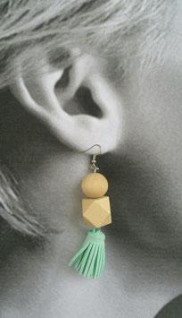 Boucles d'oreilles Bleu Givré
