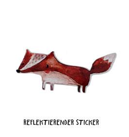 """Reflektierender Sticker """"Fuchs""""   3er Set"""