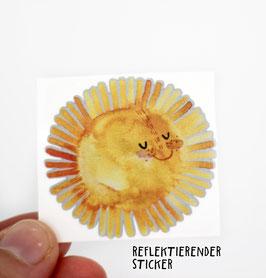 """Reflektierender Sticker """"Sonne""""   3er Set"""