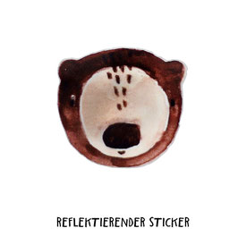 "Reflektierender Sticker ""Bär""   3er Set"