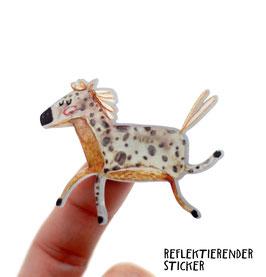 """Reflektierender Sticker """"Pferd""""   3er Set"""