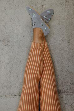 Leggings Längsstreifen karamell beige| Biobaumwolle | made in Frankfurt