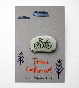 Anstecker Team Fahrrad | Pin Sprechblase