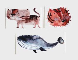 Bügelbilder Set Wilde Tiere
