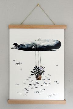 """Kunstdruck """"Wal auf Reisen"""""""