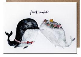 Klappkarte frisch verliebt | Hochzeit | Wale