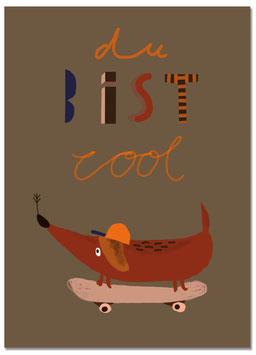 Postkarte Dackel Detlef | du bist cool