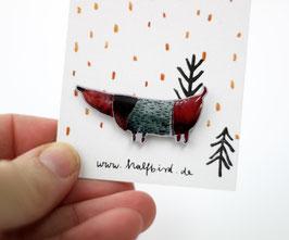 Anstecker Dackel Detlef | Pin Hund