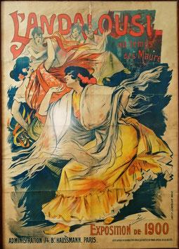CARTEL ORIGINAL PABELLÓN DE ESPAÑA EXPOSICIÓN UNIVERSAL DE PARIS 1900
