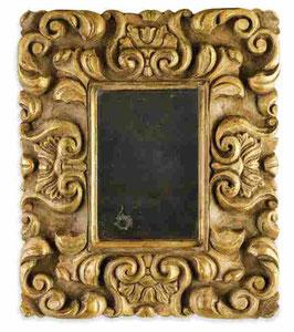 Espejo de época tallado y dorado a mano