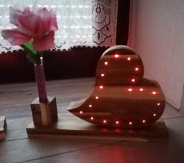 LED Herz mit Reagenzglas