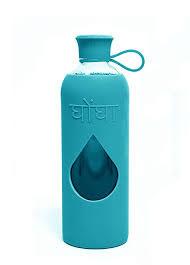 GHONGA GLASS WATER BOTTLE AZURE