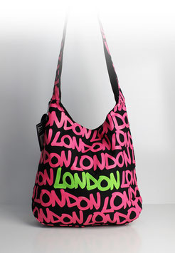 "Große Schultertasche London ""neon style pink"""