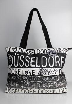 """Große Tasche Düsseldorf """"black & white"""""""