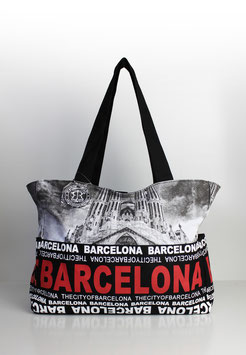 "Große Tasche Barcelona ""skyline red"""