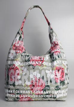 """Große Schultertasche Germany """"urban flower beige"""""""