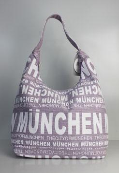 """Große Schultertasche München """"urban lavender style"""""""