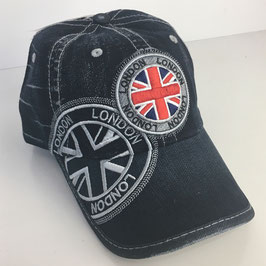 "Basecap London DENIM ""union jack dark grey"""