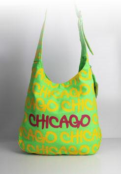 """Große Schultertasche Chicago """"colour splash green"""""""