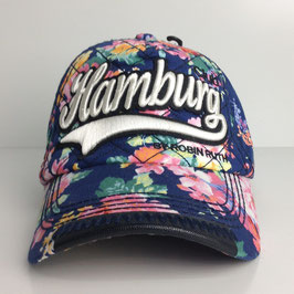 "Basecap Hamburg FLOWER ""blue"""