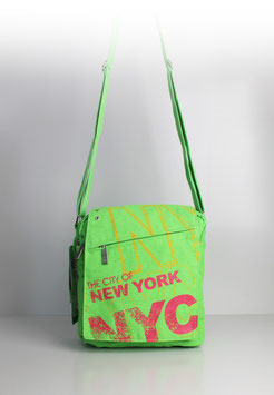 "Collegetasche New York ""colour flash green"""